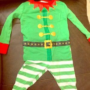 Wonder nation Elf Pajamas 12M